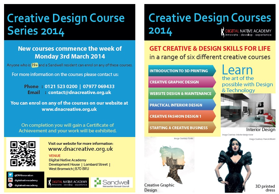 Creative Design Course Leaflet 2014 P1